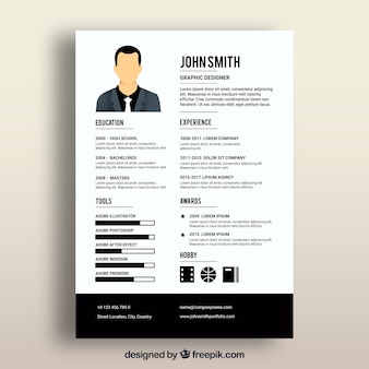 Cv template with black elements