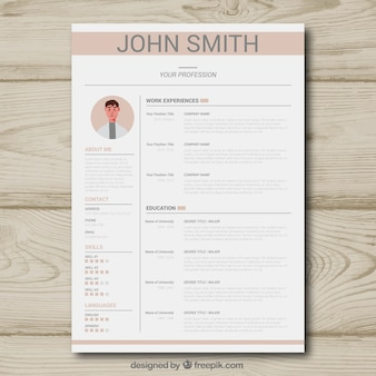 Cv template with light color