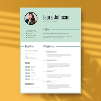 Cv template with minimal design