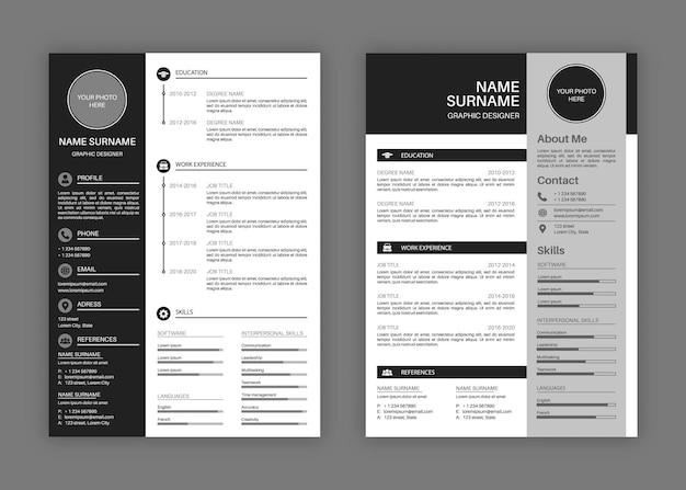 Cv templates illustration