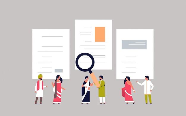 インド人男性拡大候補cv履歴書を選択するチーム候補者を選択