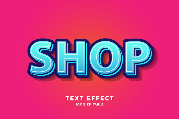 Cyan blue fresh modern text effect
