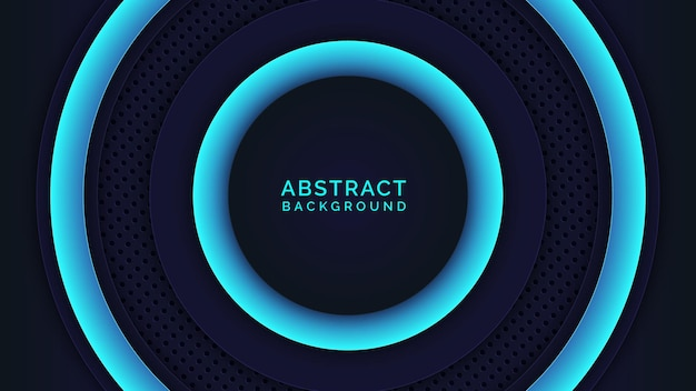 Cyan and blue gradient style abstract background