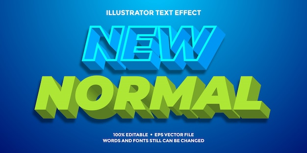 Cyan and green text effect 3d