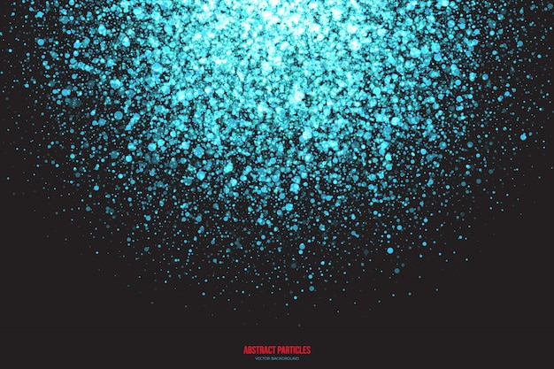 Cyan shimmer glowing particles  background