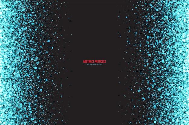 Cyan shimmer светящиеся частицы векторный фон