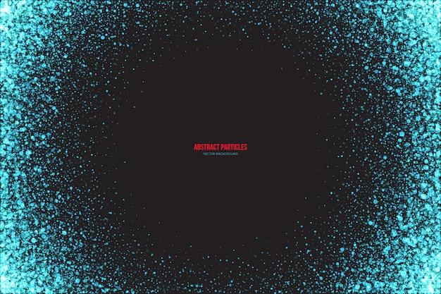 Cyan shimmer светящиеся частицы абстрактный фон