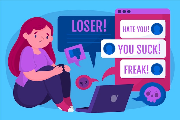 Cyber bullying concept