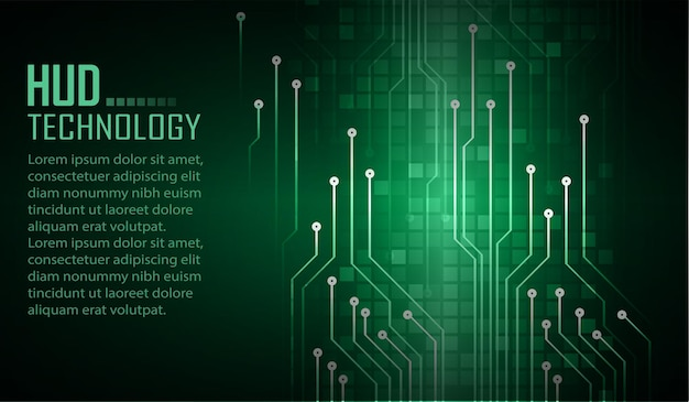 Cyber circuit future technology concept background closed padlock on digital background