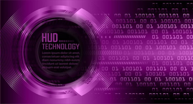 Cyber circuit future technology concept background closed padlock on digital data vector