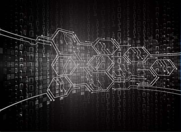 Кибер схема технология будущего концепция фон данные информация конфиденциальность идея аннотация привет скорость