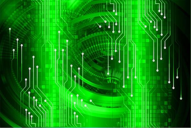 サイバー回路未来技術コンセプトの背景
