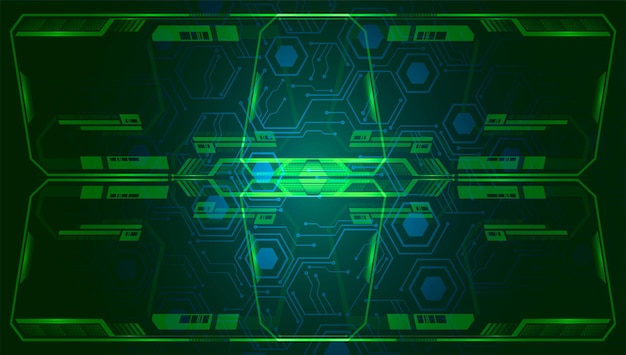 Cyber circuit future technology concept background