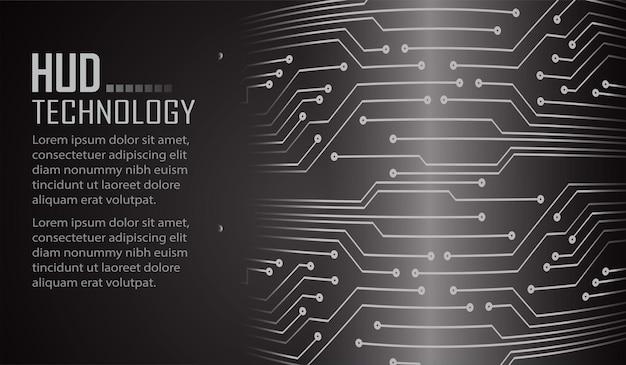 サイバー回路の将来の技術概念の背景