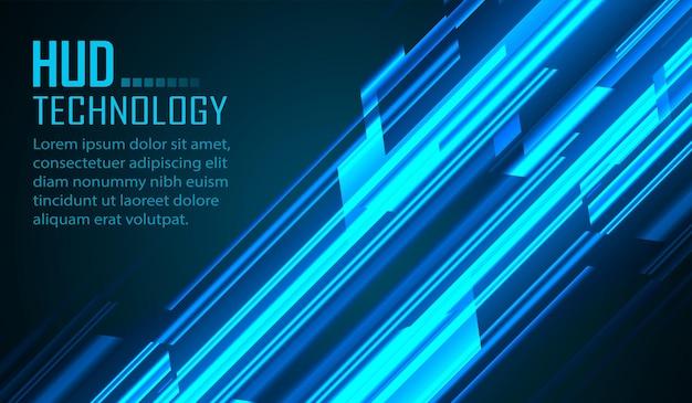 사이버 회로 미래 기술 개념 배경