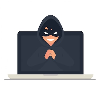 Cyber crime concept vector illustation