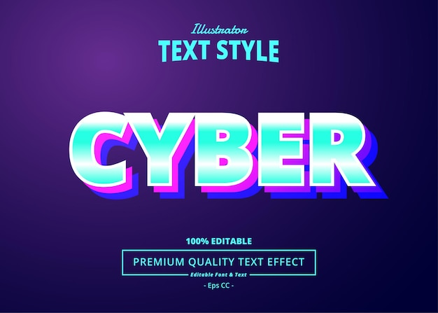 Cyber editable text effect