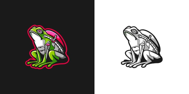 사이버 개구리 디자인