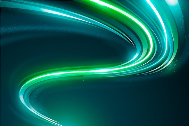 Cyber green neon light background