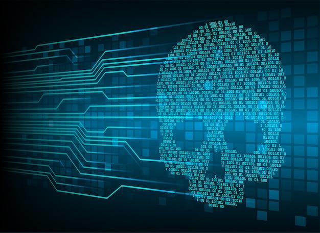 Cyber hacker attack background