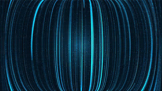 Cyber lines on blue technology background,comic and motion concept design,vector.