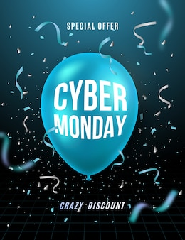 Cyber monday 3d background.