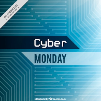 Cyber monday background with blue lines