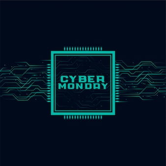 Cyber monday banner in futuristic style design