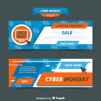 Cyber monday banner template collection