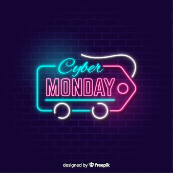 Cyber monday banner with price tag