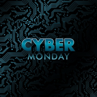 Cyber monday banner.