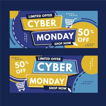 Cyber monday banners collection