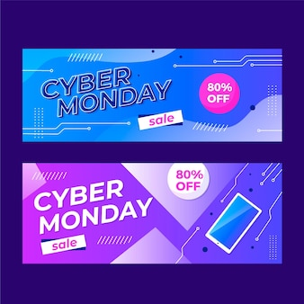 Cyber monday banners pack