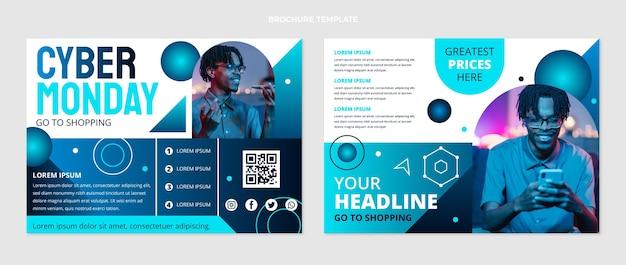 Modello di brochure del cyber lunedì