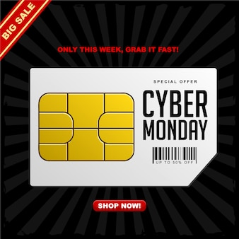 Cyber monday celebrates sale banner