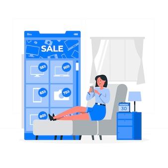 Cyber monday concept illustration