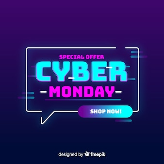 Cyber monday concept special offer