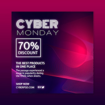 Cyber monday concept template