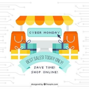 Cyber lunedì concept con negozio