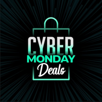 Cyber monday deals and shopping banner design
