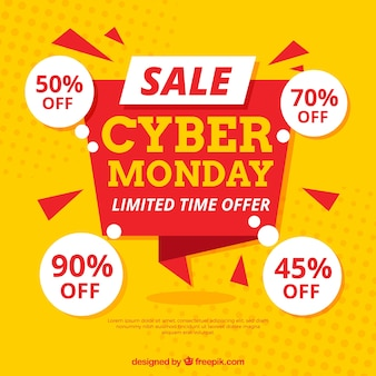 Cyber monday design in flat style