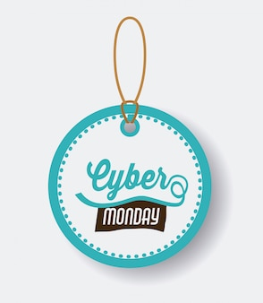 Cyber monday design of label or price tag