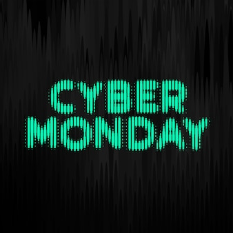 Cyber monday digital style technology banner  design