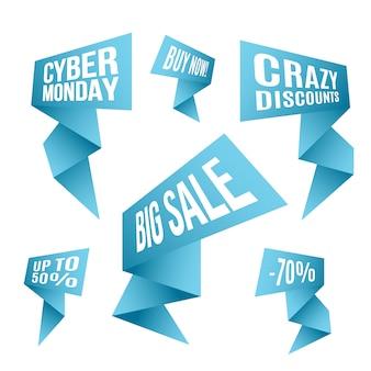 Cyber monday discount design set.