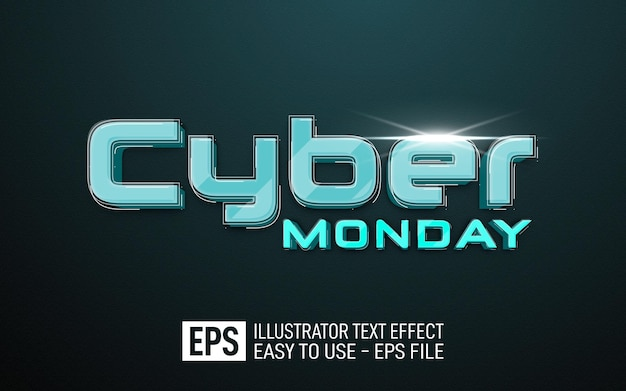 Cyber monday editable style effect template