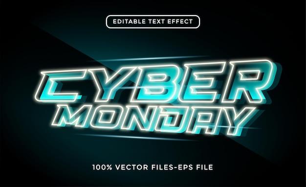 Редактируемый текстовый эффект киберпонедельника премиум векторы