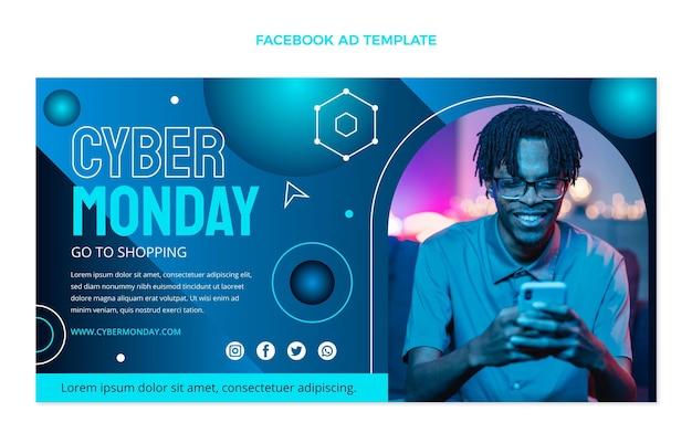 Modello facebook del cyber lunedì