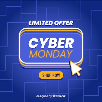 Cyber monday in flat design