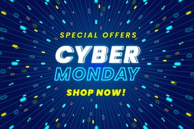 Cyber lunedì in design piatto