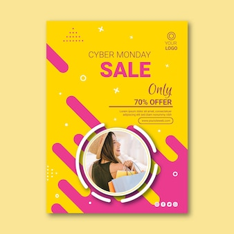 Cyber monday flyer a5 vertical